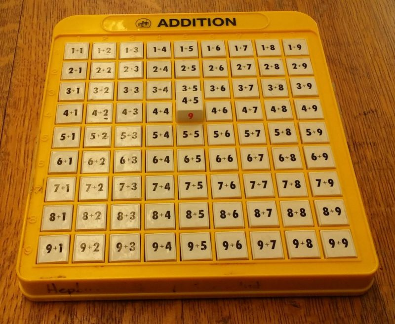 middle square is popped up addition machine