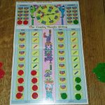 Crayon Family Circus board game with markers