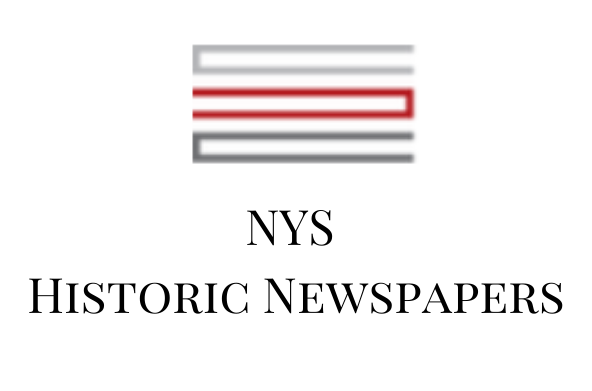 NYS Historical Newspapers logo and link.