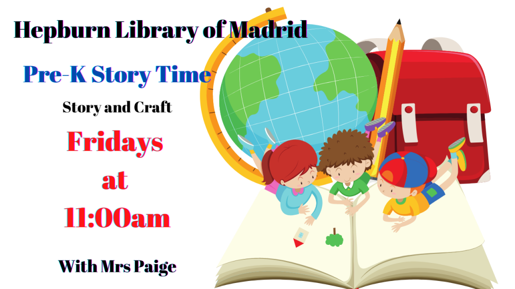 image with the story time information