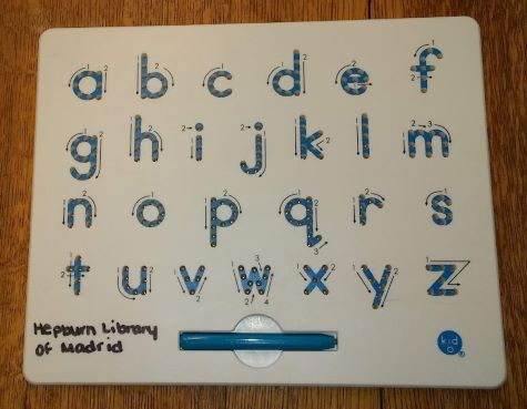 Lower case letters with tracing pen